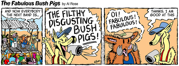 Introducing The Filthy Disgusting Bush Pigs