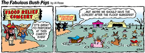 have concert after flood subsides