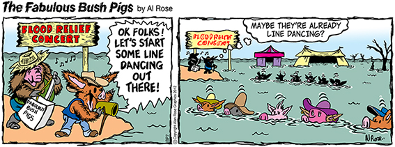 Line Dancing in a Flood