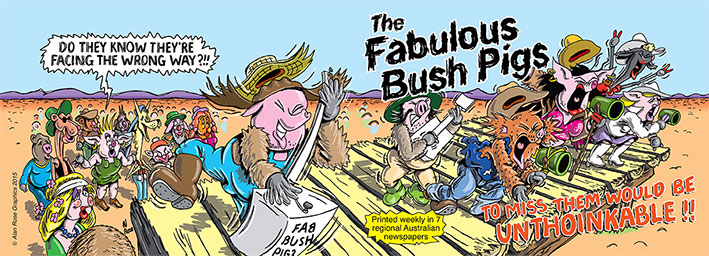 """Cover of the first """"Fabulous Bush Pigs"""" book"""