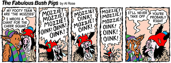 Mozzie Mozzie Mozzie Oink Oink Oink