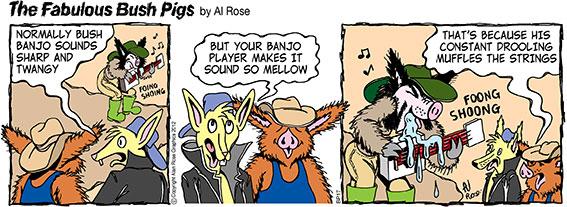 Drool mellows banjo sound