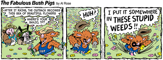TP loses banjo in flowers