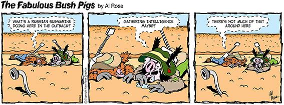 pipe as periscope in desert