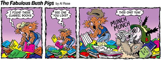 Ronnie eats Classic Book