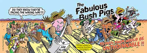 Cover of the first Fabulous Bush Pigs book