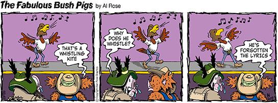 Whistling Kite forgets lyrics