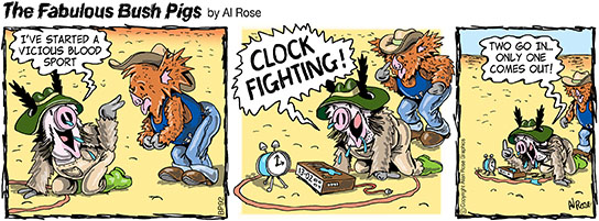 Clock Fighting in ring