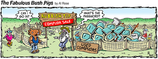 rubbish tip of computers