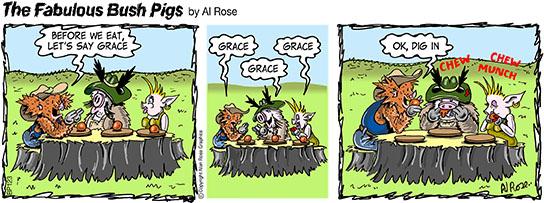 Pigs say Grace