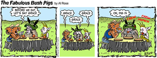 Pigs say Grace