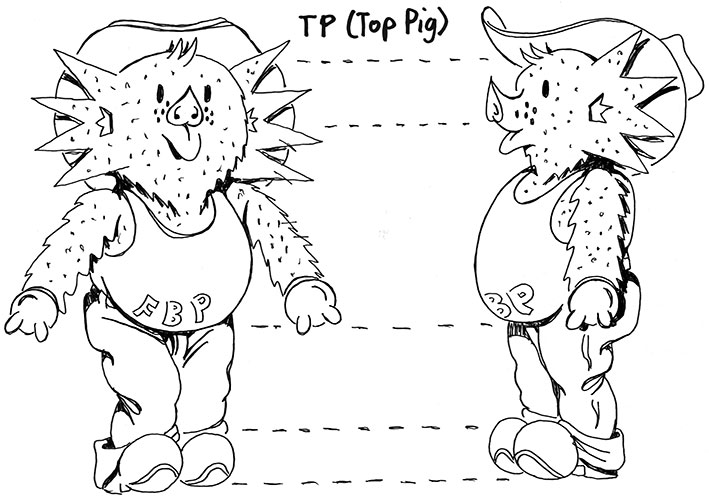 How to Draw TP - front fin