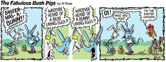 easter bilby cartoon strip