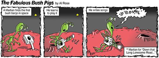 alien plays banjo