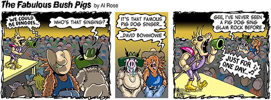 pig dog glam rock singer