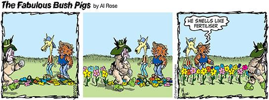 flowers rise cos Ronny smells like fertiliser