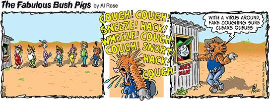cough to disperse queue