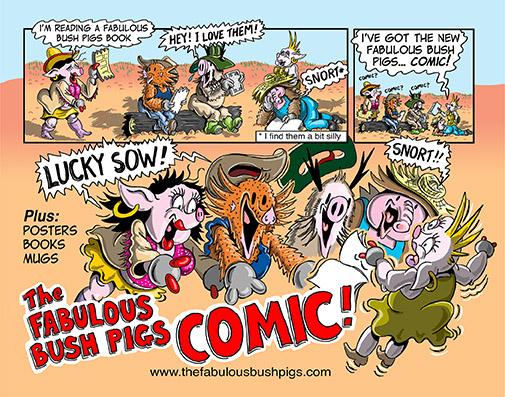 32 page Fabulous Bush Pigs colour comic